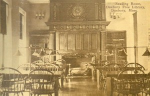 The Duxbury Free Library Reading Room, c. 1910